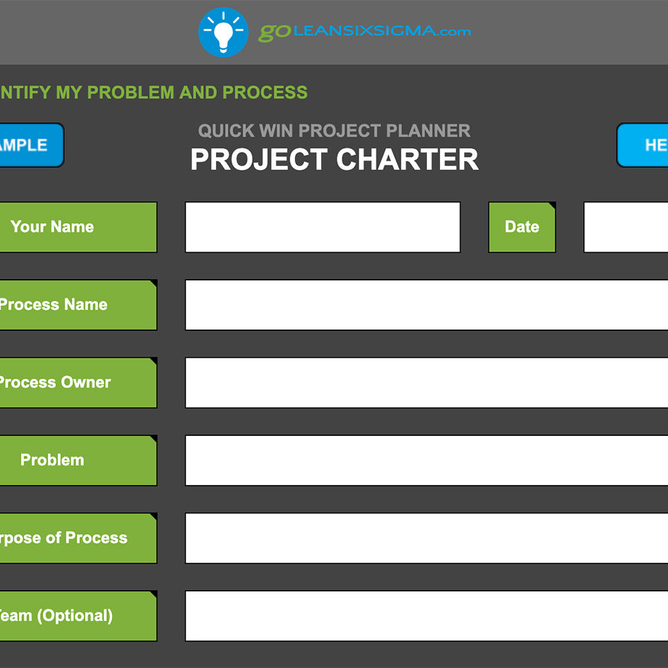 Quick Win Project Planner: Project Charter